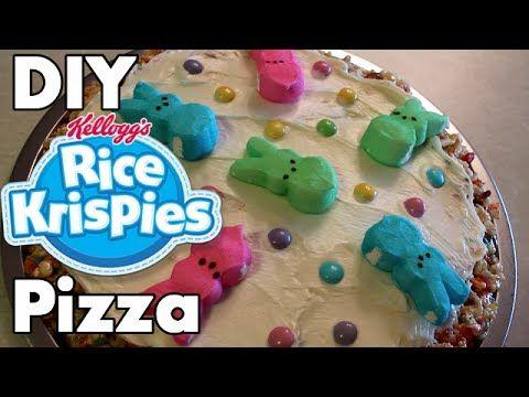 DIY EASTER Dessert - Rice Krispy Pizza | Rice krispies ...
