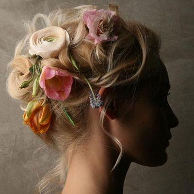 floral hair head piece