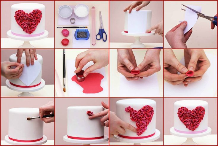 """dainty valentine cake ideas   more beautiful Valentine's cake designs is the """"I Heart You Cake ..."""