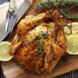 (Swap olive oil for the butter): Lemon Herb Roasted Chicken is a newbie-friendly recipe anyone can pull off like a gourmet chef.