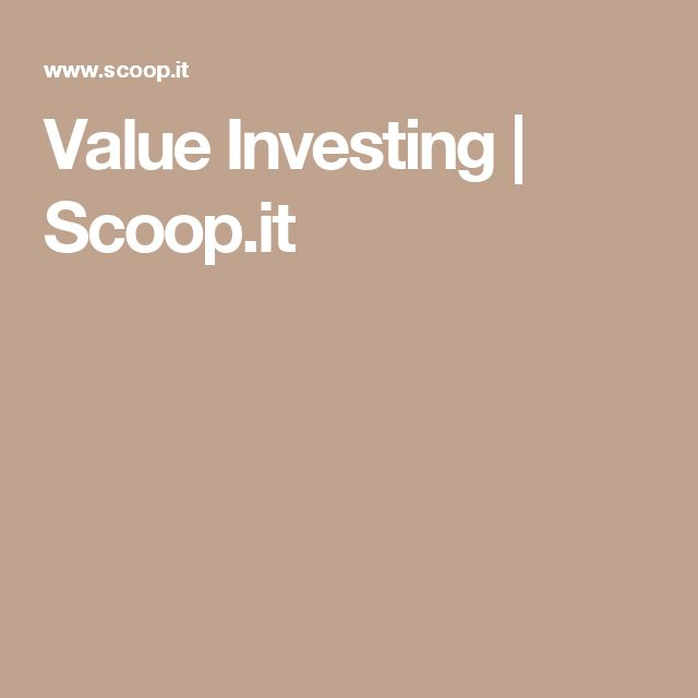 Fabulous Value Investing Scoop it