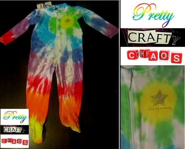 Hand dyed by Pretty Crafty Chaos 'I love my mummy' long onsie.