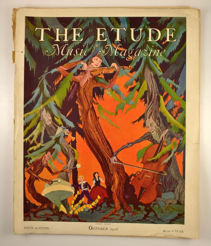 the etude music magazine vintage october 1928 halloween issue sheet music - Halloween Magazines