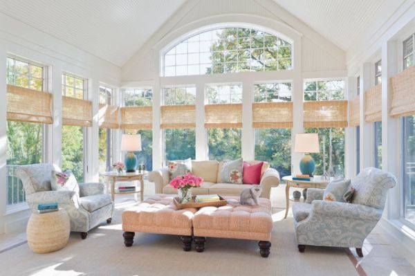 Wow, too many beautiful rooms.  I don't know which is my favorite!! - 35 Beautiful Sunroom Design Ideas