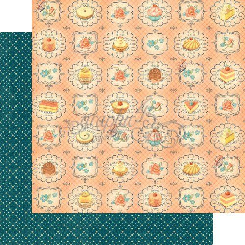 Graphic 45 - Cafe Parisian Collection - 12 x 12 Double Sided Paper - Upper Crust