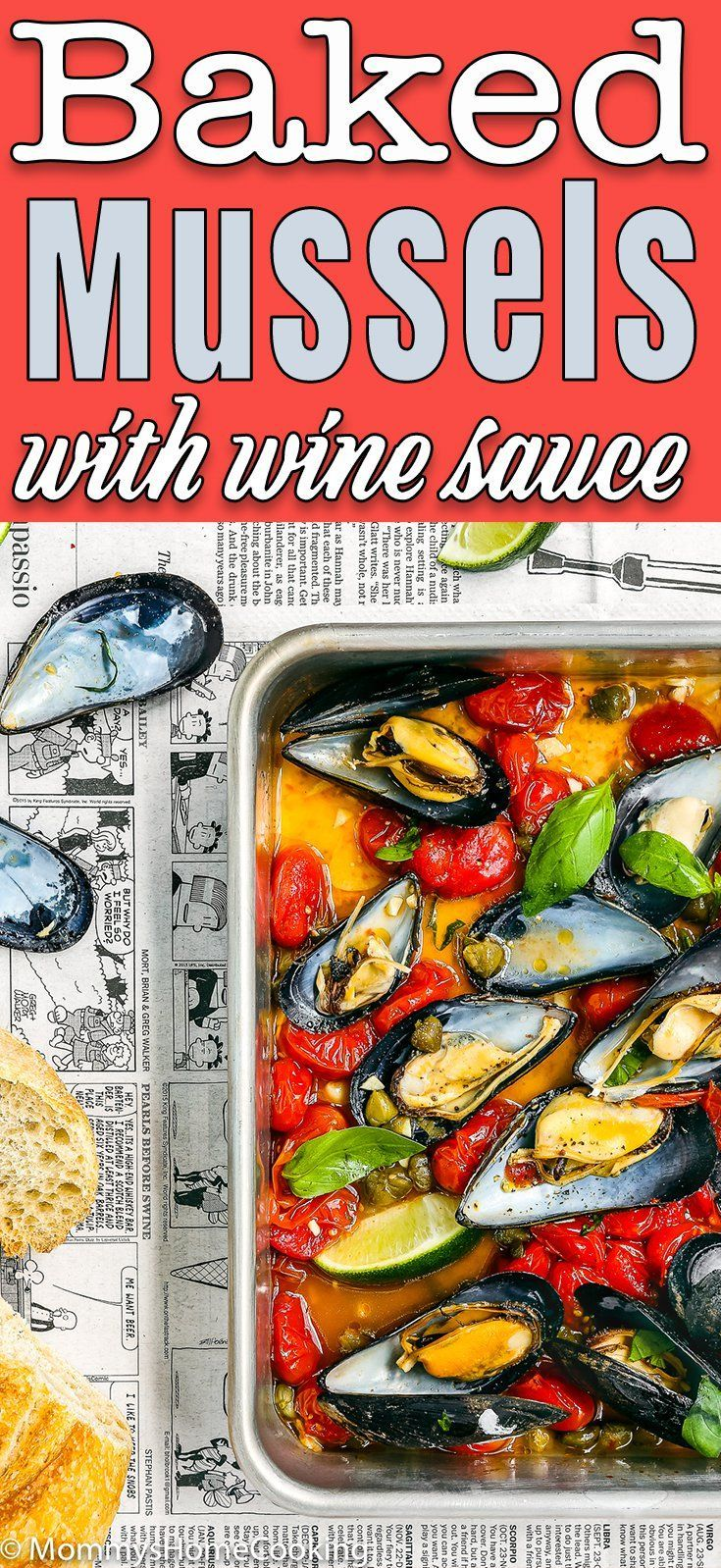 Easy Baked Spicy Mussels Video Recipe Shellfish Recipes Recipes Mussels