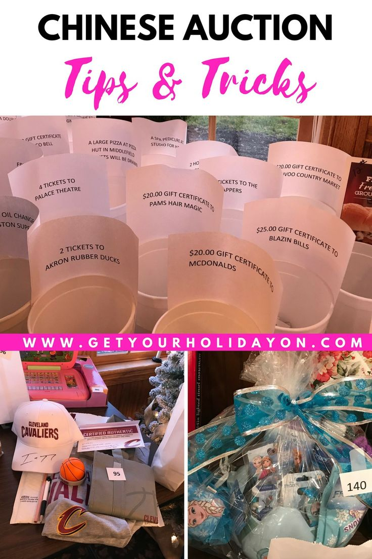 The best thing about a Chinese auction versus a raffle is that there are multiple baskets and prizes to choose from. Each prize has its own basket allowing the buyer to choose where he or she would like to place their ticket. My favorite type of auctions is a Chinese Auction. #raffle #chineseauction #basket #giftbasket