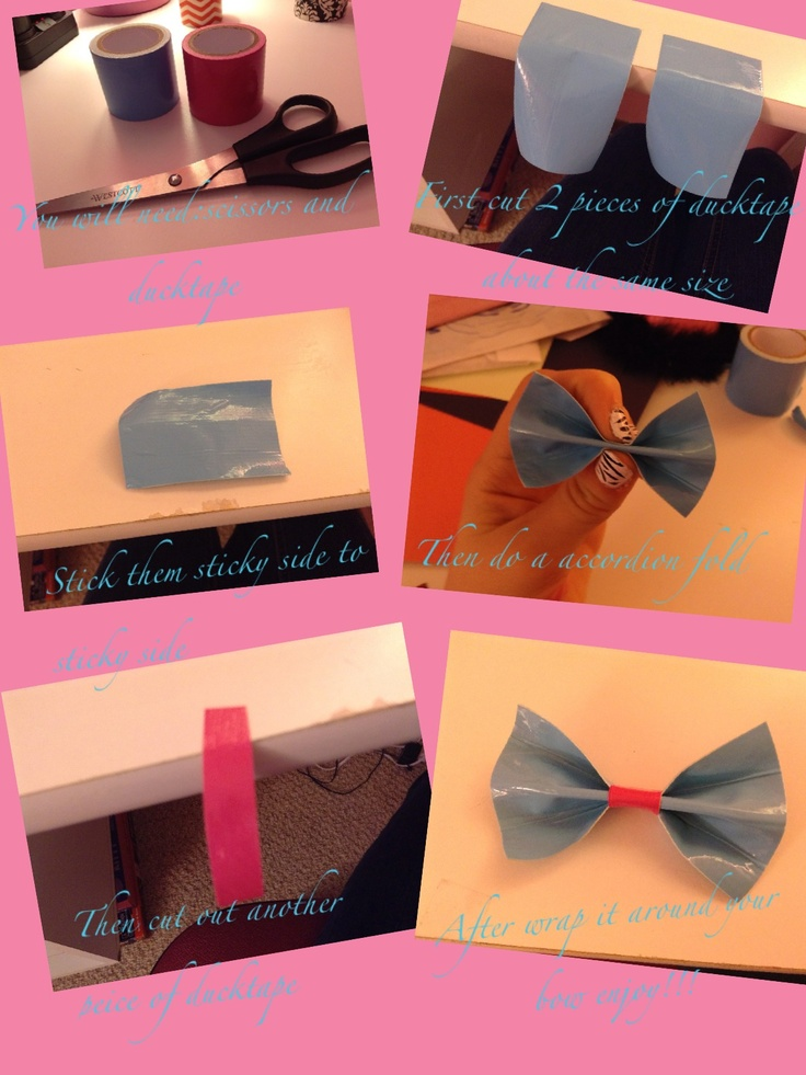 How to make a ducktape bow enjoy!!!