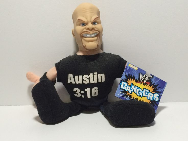 (TAS030068) - 1999 Jakks WWF Bangers Wrestling Figure - Steve Austin