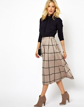 This @asos.com.com skirt is just what I've been looking for in a midi skirt. The check print gives it a Parisian vibe, no?