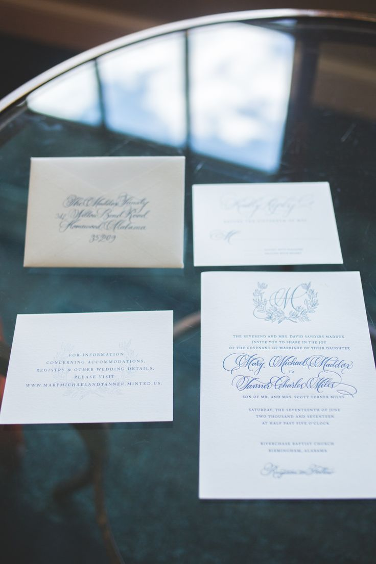 Classic southern wedding invitation calligraphy for The