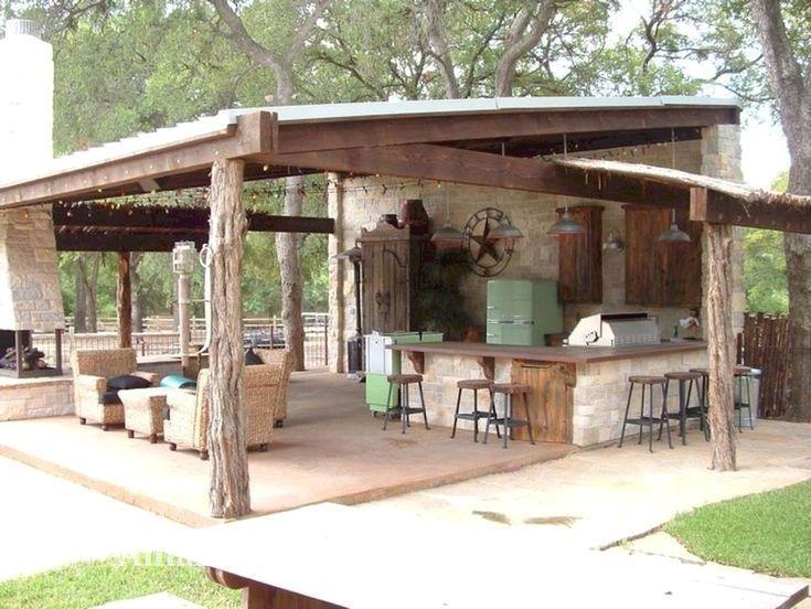 Erstaunlich Rustikal Kuche Insel Diy Ideen Homedecor Rustic Outdoor Kitchens Outdoor Kitchen Design Backyard Kitchen