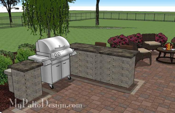 Download our Creative Backyard Design with Grill Station-Bar and learn how easy it is to build a patio. Itemized material list, how-to's, fully dimensioned.