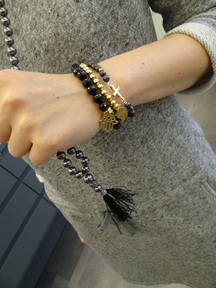 moje Mokobelle #mokobelle #necklace #onyxnecklace #onyx #bracelet
