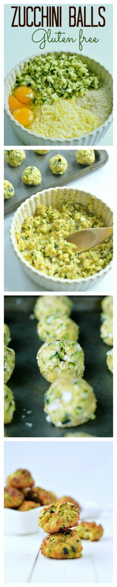 Healthy, quick & easy party appetizers, only 5 ingredients + few minutes to makes those baked zucchini balls and impress your guest. #cleaneating #zucchini #glutenfree                                                                                                                                                     More