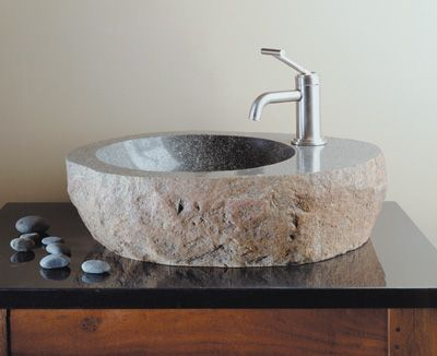 Unusual sink in natural stone