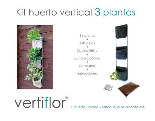 The 42 best images about huerto urbano vertical on for Jardin vertical de fieltro en formato kit