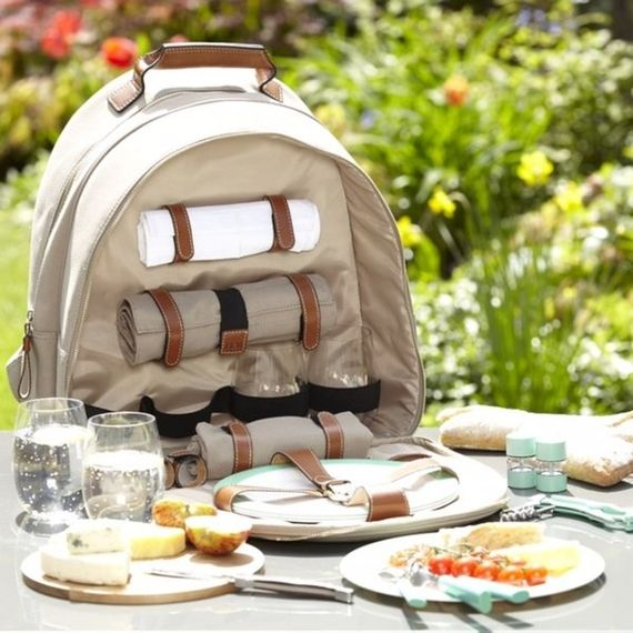 NEW - Fortnum's 4 Person Canvas Picnic Backpack - Fortnum & Mason
