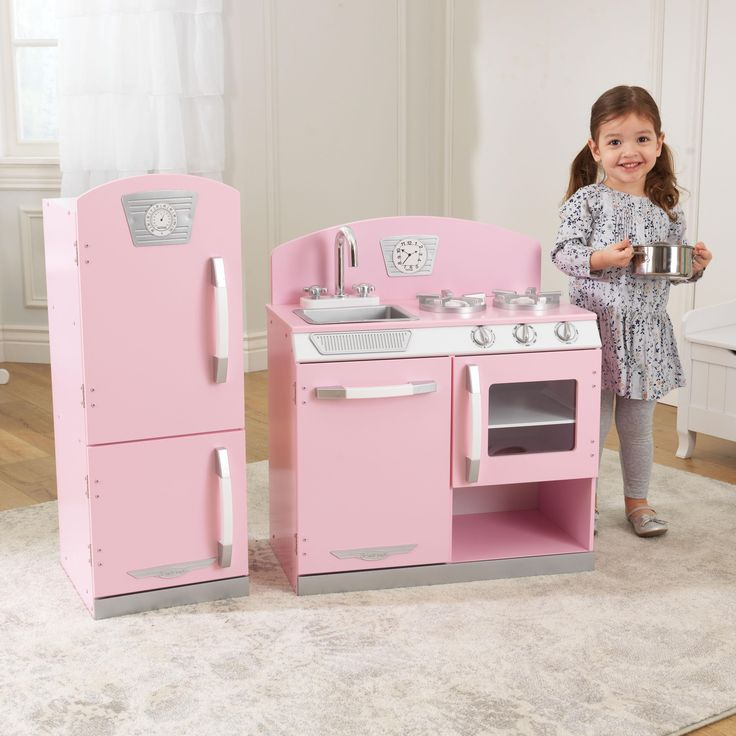 Amazon Com Kidkraft Retro Kitchen And Refrigerator In