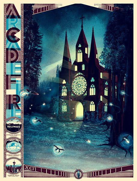 Arcade Fire poster by Burlesque Design