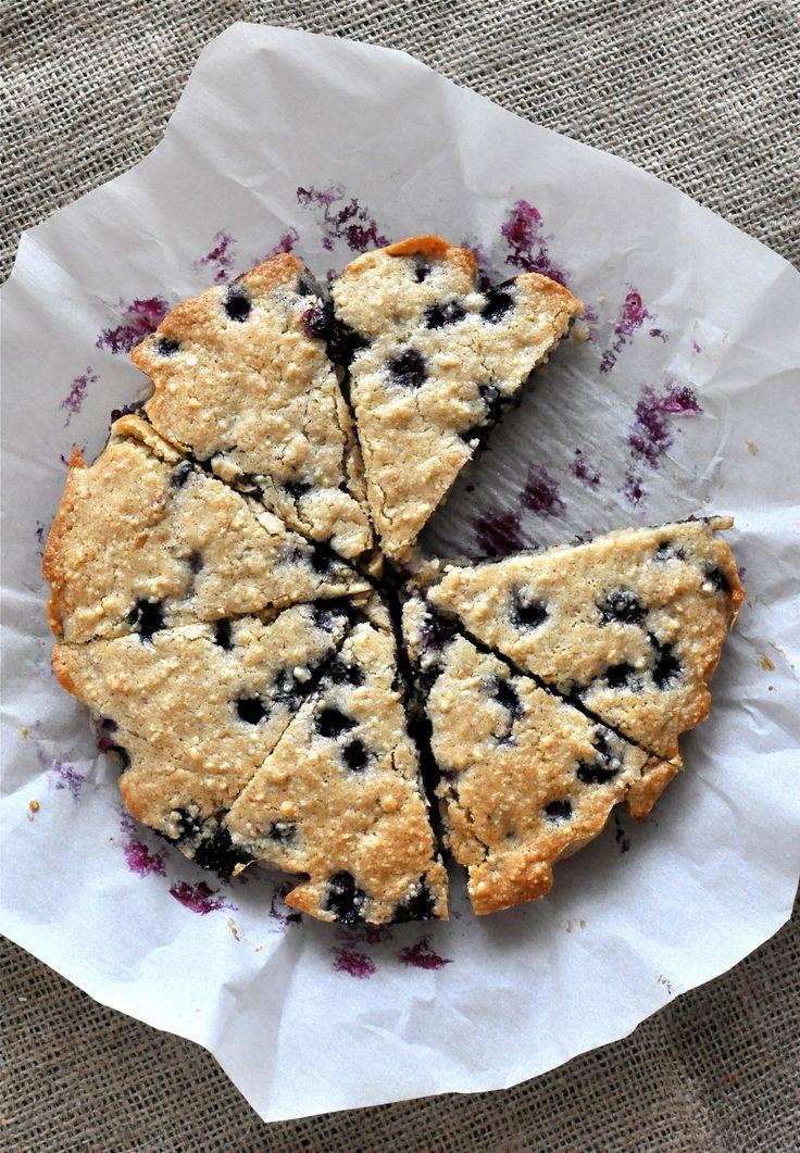 Paleo blueberry scones (use apple sauce instead of honey. Add some lemon zest)