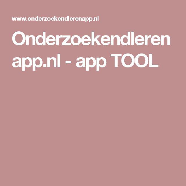 Onderzoekendlerenapp.nl - app TOOL