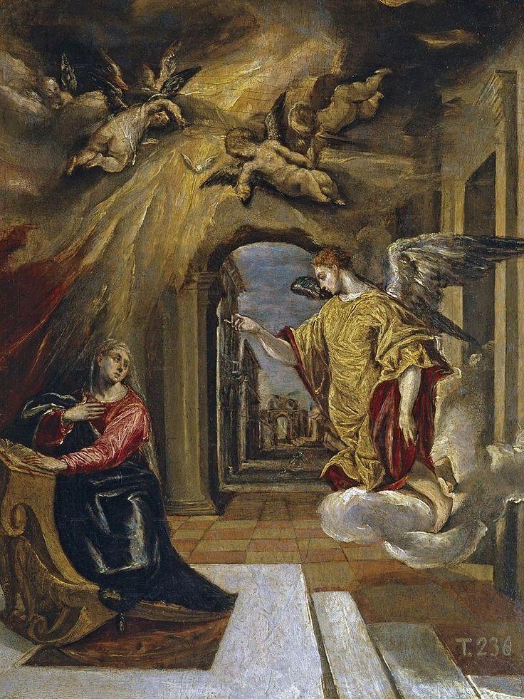 El Greco - La anunciación (1570) - Museo del Prado