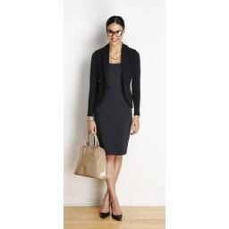 Emily Soft Blazer, Black: Made in Canada from Bamboo. The look of a tailored jacket with the comfort of a cardi!