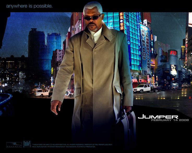 Jumper, starring Hayden Christensen, Samuel L. Jackson, Jamie Bell, Rachel Bilson. A teenager with teleportation abilities must suddenly finds himself in the middle of an ancient war between those like him and their sworn annihilators.