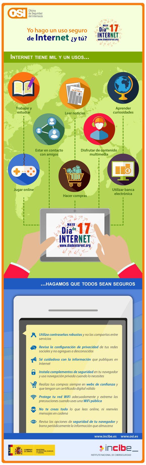 Cómo hacer un uso seguro de Internet #infografia