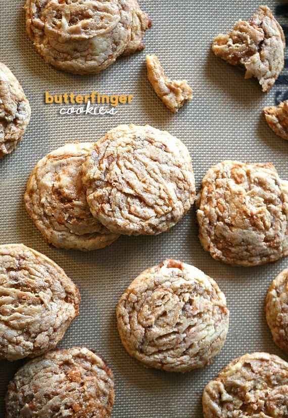 Butterfinger Cookies..Chewy, Rich and Buttery. The perfect cookie!!