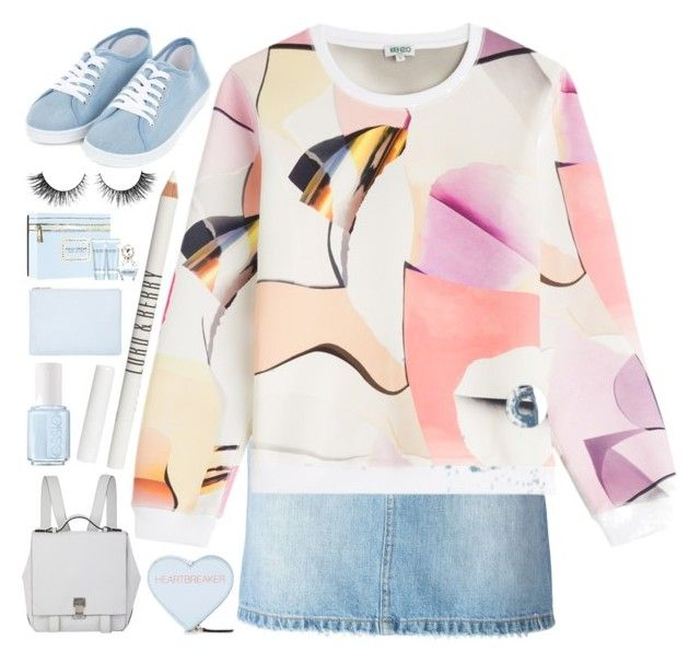 """Untitled #18"" by paradiselemonade ❤ liked on Polyvore featuring Marc by Marc Jacobs, Kenzo, Proenza Schouler, Lord & Berry, Essie, Rebecca Minkoff, Whistles, Marc Jacobs and Rimini"