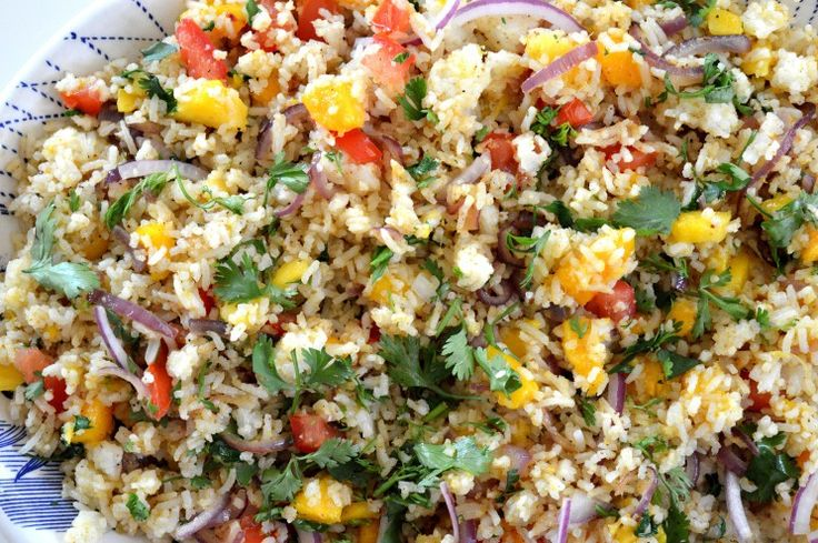 Mango koriander rijst