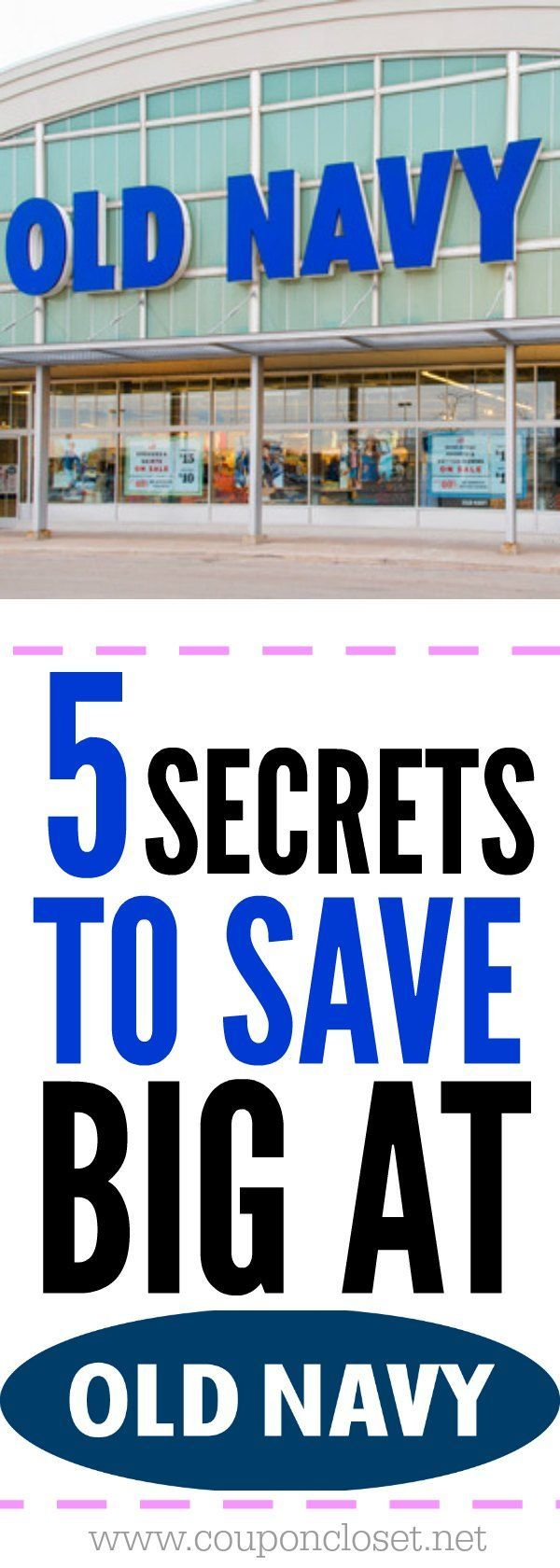 Love shopping at Old Navy? Here are 5 Money saving Tips to Save BIG at Old Navy.