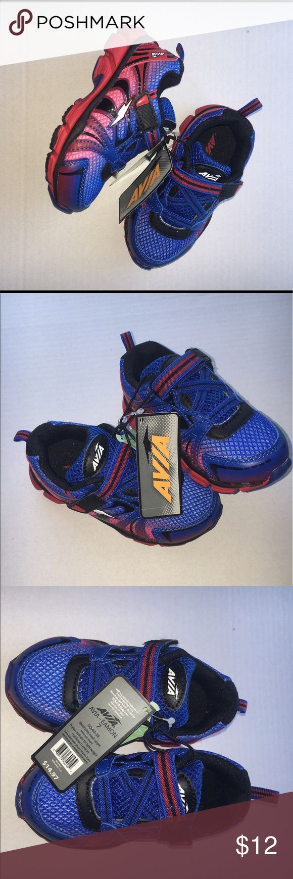 NWT Avia toddler boys blue and red shoes size 7 NWT Avia toddler boys blue and red shoes size 7. Super cute! Avia Shoes Sneakers