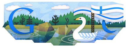 Doodle for FInland's independence day. Very Finnish :-D