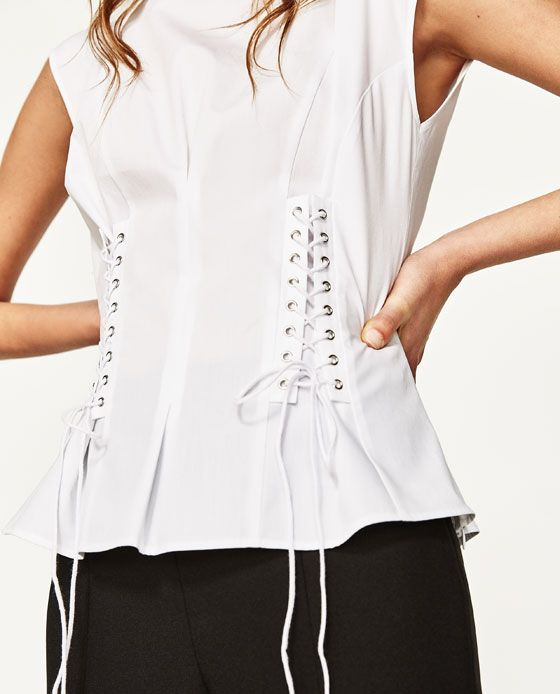 Image 3 of DOUBLE CORSET SHIRT from Zara