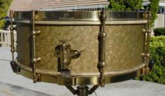 Alternative Drum Wrap Materials - CompactDrums _ Vintage drum with wallpaper