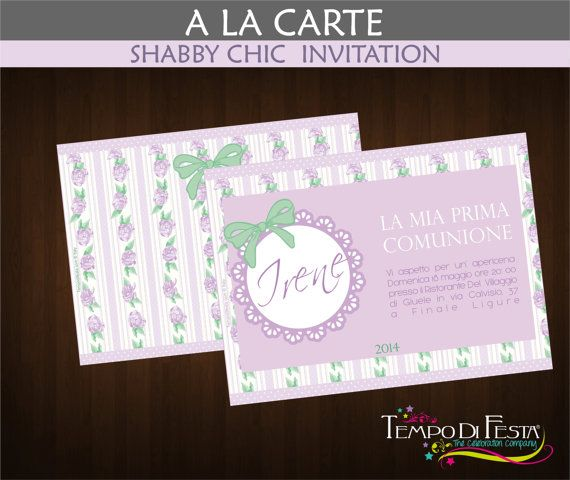 Shabby Chic printable invitation