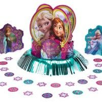 Frozen decorating kits, includes 3 centrepieces for the table and confetti.