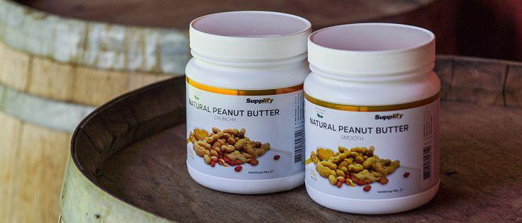 Supplify Natural arašidové maslo, 1000g - doplnky, kulturistike a fitness produkty za bezkonkurenčné prices- Supplify.de
