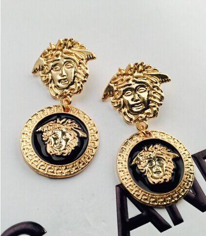 Fashion Elegant medusa head earrings