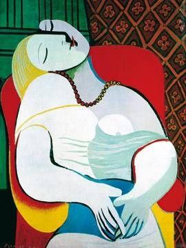 Pablo Picasso - Frau im Sessel - jetzt bestellen auf kunst-fuer-alle.de
