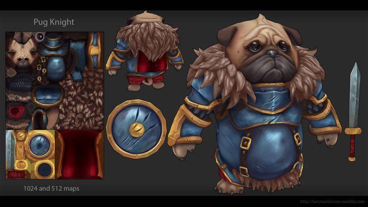 ArtStation - Hand Painted Pug Knight character, Lance Wilkinson