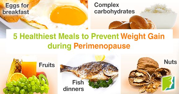 5 healthiest meals to prevent weight gain during perimenopause.