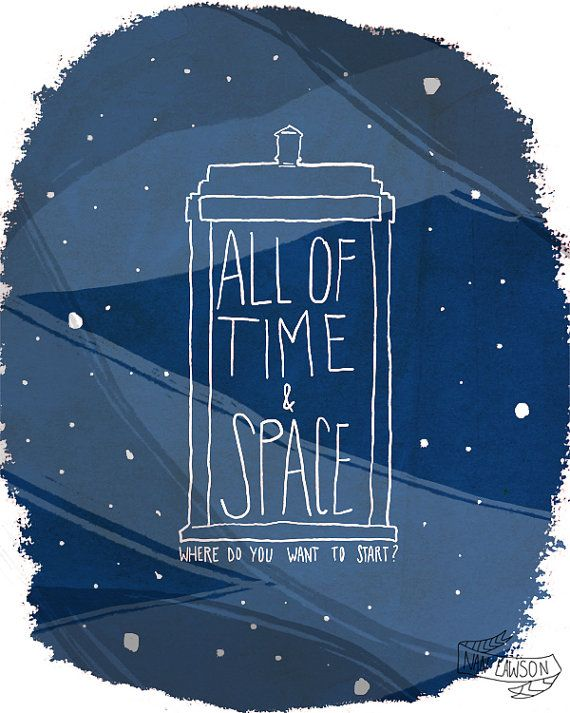All Of Time And Space  8 x 10 Illustration Print by NanLawson, $16.00