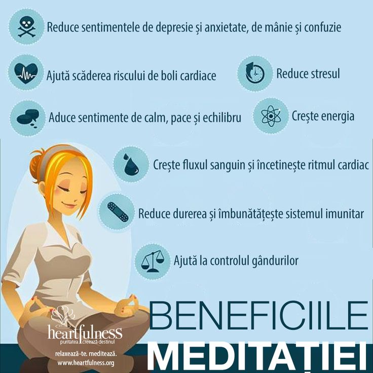 Beneficiile Meditației: ❤ Reduce durerea și îmbunătățește sistemul imunitar ❤ Reduce sentimentele de depresie și anxietate, de mânie și confuzie ❤ Crește fluxul sanguin și încetinește ritmul cardiac ❤ Aduce sentimente de calm, pace și echilibru ❤ Ajută scăderea riscului de boli cardiace ❤ Ajută la controlul gândurilor ❤ Crește energia ❤ Reduce stresul #hfnro #beneficiilemeditatiei #heartfulness