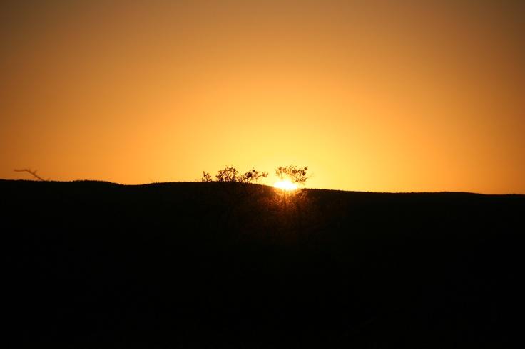 Sunrise over Zebula Game Lodge
