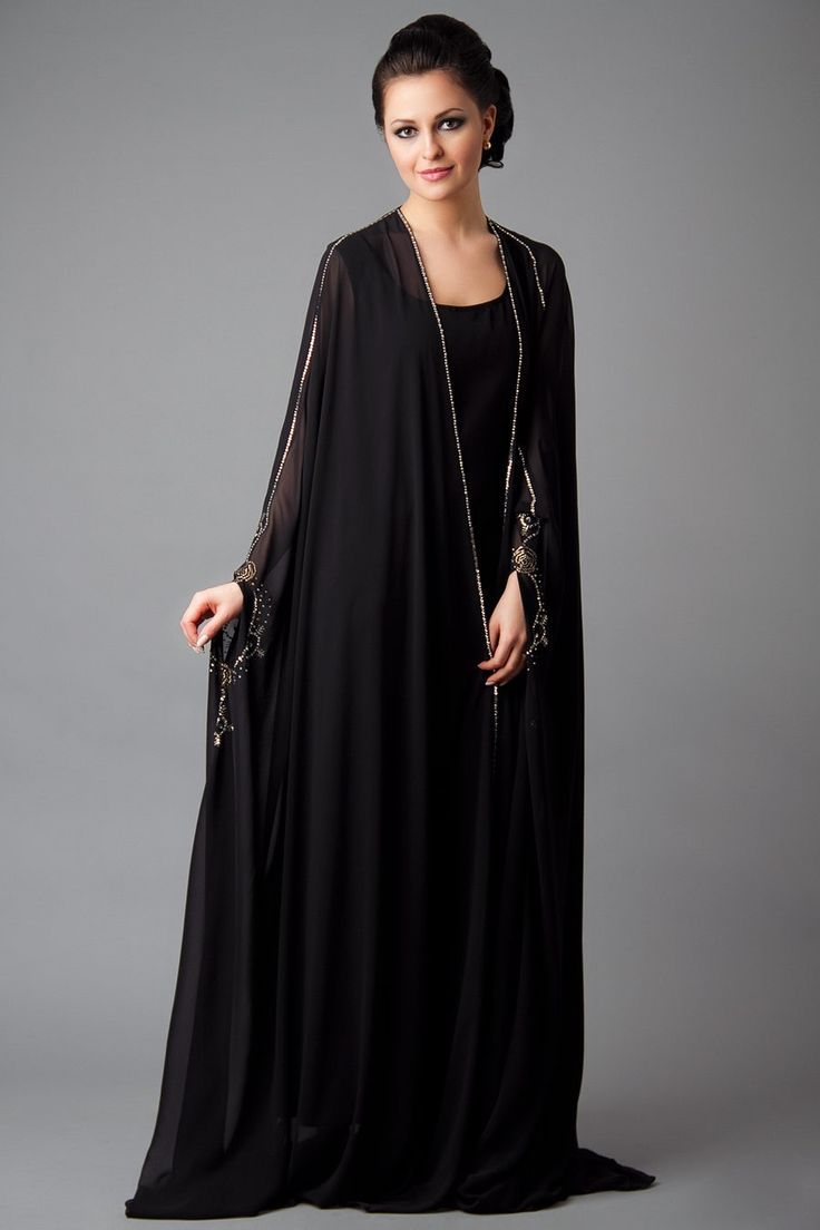 15 Most Popular Dubai Style embroidered Abayas   Outfit Trends   Outfit Trends