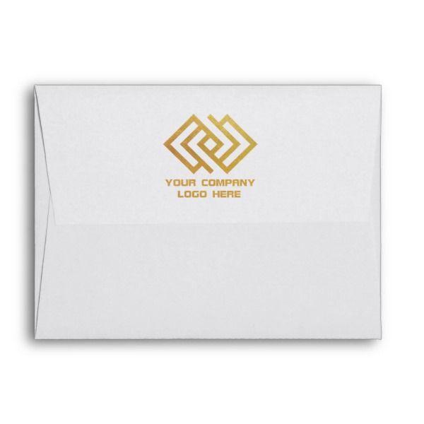 Your Company Logo Back Print Note Card Envelope Company Logo Note